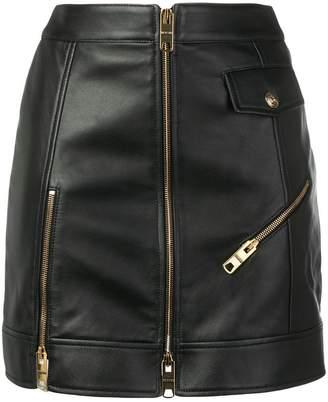 Versus zip detail mini skirt