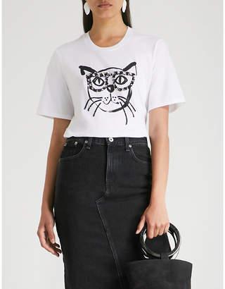 Markus Lupfer Geek Cat cotton-jersey T-shirt