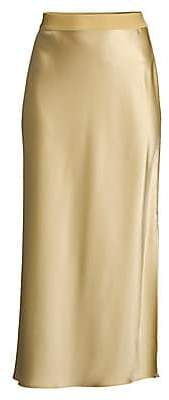 Theory Women's Sateen Midi Slip Skirt