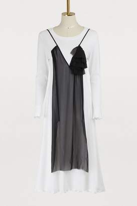 Aalto Jersey dress with tulle panel