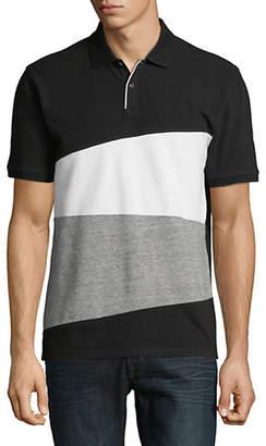 Black Brown 1826 Colourblock Cotton Polo