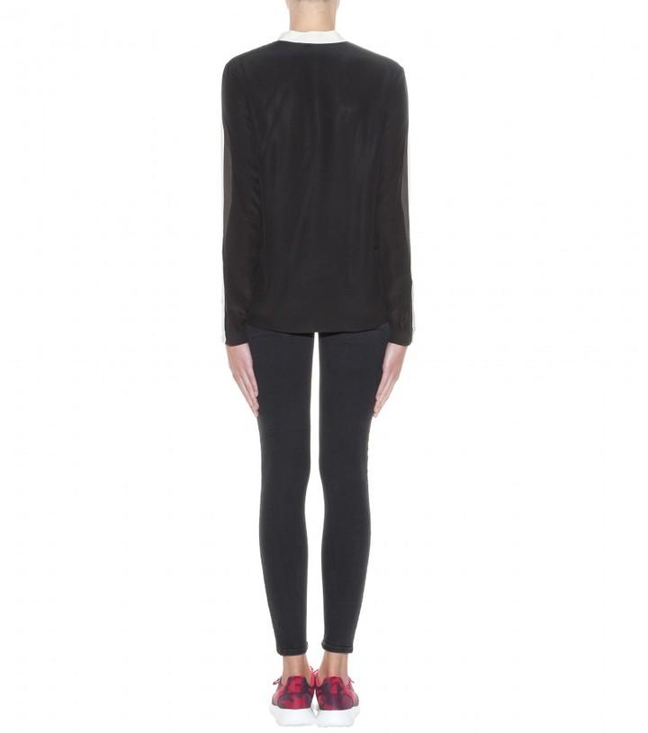 Stella McCartney Estelle Two-tone silk blouse
