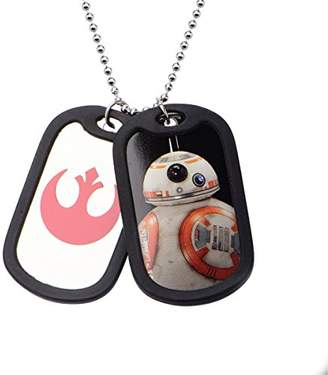 Star Wars Jewelry Episode 7 BB-8 Double Dog Tag Men's Pendant Necklace