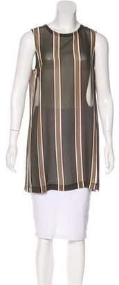 Theory Sleeveless Sheer Silk Tunic