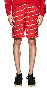 Wu Wear Men's Logo Tech-Faille Shorts-Red