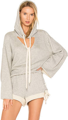 KENDALL + KYLIE Hooded Sweatshirt in Gray $135 thestylecure.com