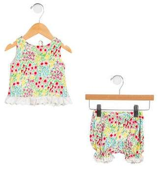 Ralph Lauren Girls' Floral Print Shorts Set