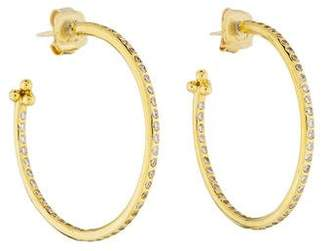 Temple St. Clair 18K Diamond Hoop Earrings
