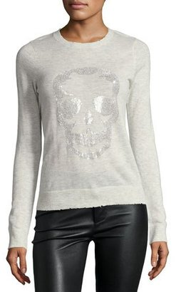 Zadig & Voltaire Miss Bis Cashmere Pullover Top, Ecru $368 thestylecure.com