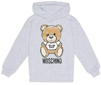 Moschino Kids Printed stretch cotton hoodie