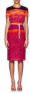 Altuzarra Women's Tie-Dyed Silk Midi-Dress - Ceramic Red