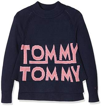 Tommy Hilfiger Girl's Graphic Sweater L/s Jumper,(Size: 12)