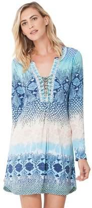 Hale Bob Jael Mesh Laceup Dress