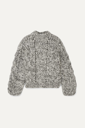 Ganni Julliard Mohair And Wool-blend Sweater - Black