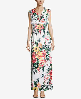 ECI Floral-Print Maxi Dress