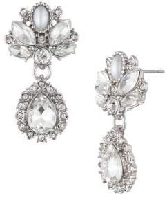 Marchesa Silvertone Drop Earrings