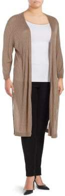 Context Plus Ribbed Duster Cardigan