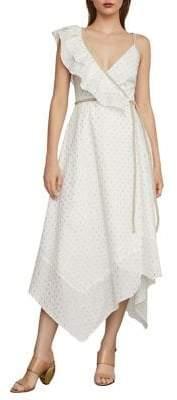 BCBGMAXAZRIA Asymmetric Midi Wrap Dress