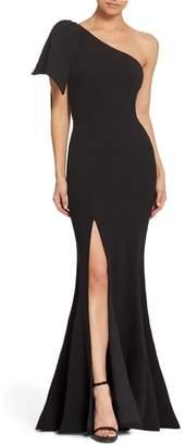 Dress the Population Georgina One-Shoulder Crepe Gown