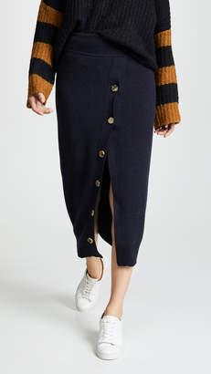 GOEN.J Knit Button Front Skirt