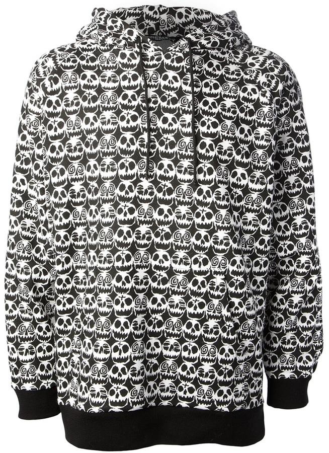 Jeremy Scott 'Voodoo Skull' slash hoodie