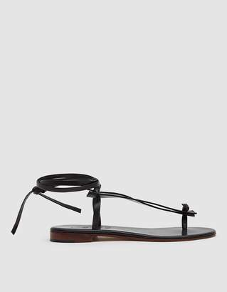 Martiniano Bibiana Leather Flat in Black