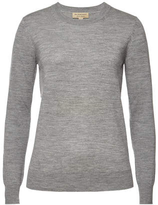 Womens Burberry Elbow Patch Sweater Shopstyle
