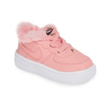 Nike Force 1 VDAY Faux Fur Sneaker