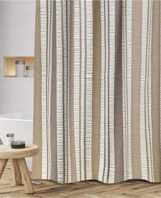 """Popular Bath Oxford Cotton Textured Stripe 72"""" x 72"""" Shower Curtain Bedding"""