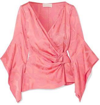 Satin-jacquard Blouse - Pink