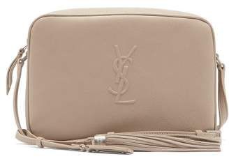 Saint Laurent Lou Monogram Leather Cross Body Bag - Womens - Beige