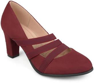 Journee Collection Womens Loren Pumps Round Toe Stacked Heel