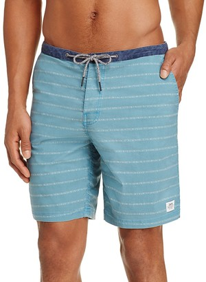 KATIN Hatch Stripe Board Shorts $59 thestylecure.com
