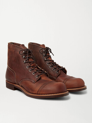 Red Wing Shoes 8085 Iron Ranger Burnished-Leather Boots - Men - Brown
