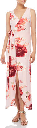 Derek Heart Floral Wrap Maxi Dress