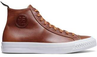 Todd Snyder + PF Flyers PF Flyers Saddle Brown Leather Rambler High Top