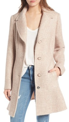 Women's Kensie Skirted Tweed Coat $218 thestylecure.com