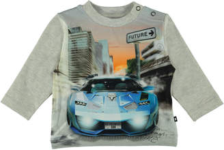 Molo Enovan Long-Sleeve Car Graphic Tee, Size 6-24 Months