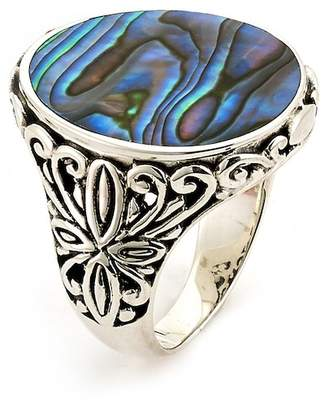 Samuel B Jewelry Sterling Silver Abalone Oval Ring