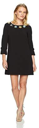 Tahari by Arthur S. Levine Women's Petite Size Bell Sleeve with Embellished Neckline