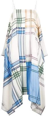 Ports 1961 handkerchief-hem checked dress