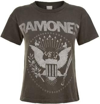 Madeworn Ramones Glitter Crop T-Shirt