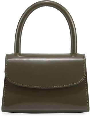 BY FAR Semi-Patent Mini Top Handle Bag