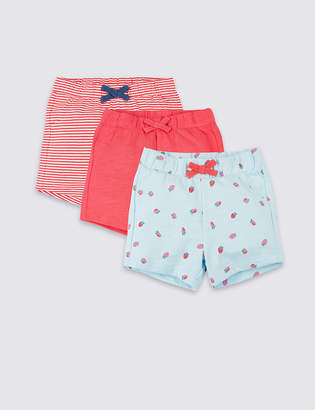 Marks and Spencer 3 Pack Organic Cotton Shorts