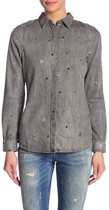 Scotch & Soda Embroidered Button Front Shirt