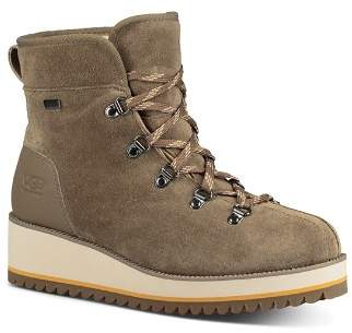 UGG Women's Birch Round Toe Suede & Leather Booties