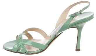 Jimmy Choo Patent Leather Slingback Sandals