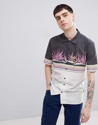 Volcom Algar shirt with contrast panel print
