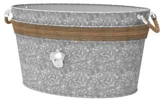 Mesa Roped Galvazized Beverage Tub w\u002F Bottle Opener & Rope Handles