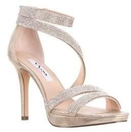 Nina Alissa Mini Platform Ankle-Strap Sandals